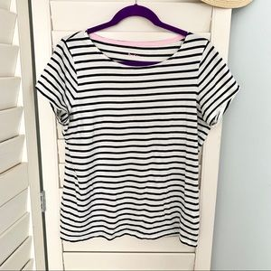 Boden Breton Tee striped navy and ivory